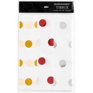 foil dot wrapping tissue paper
