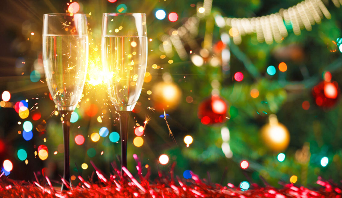 Champagne flutes holiday entertaining