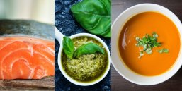 salmon orzo pesto soup