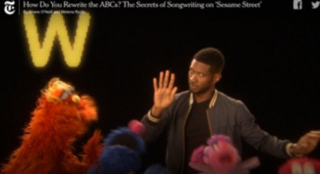 Usher sings the ABCs