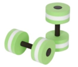 Workout in water dumbbells