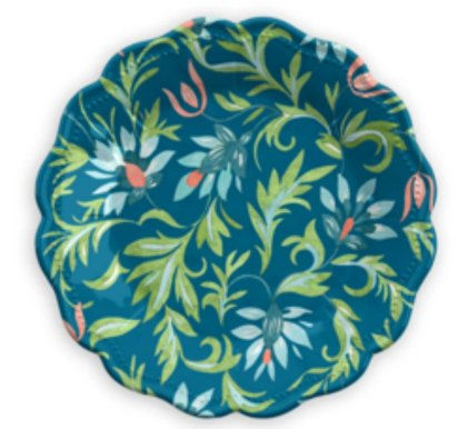Chinoisserie inspired unbreakable salad plate