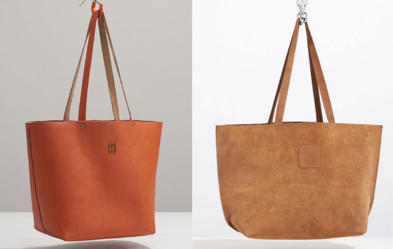 brown leather totes