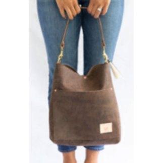 brown leather handbag to customize