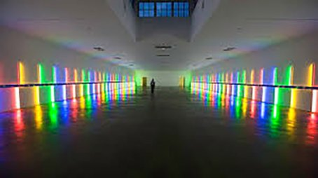 Dan Flavin installation the Menil Collection