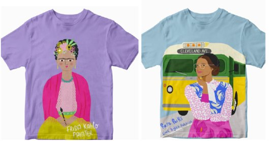 Hand-painted diverse t-shirts for kids