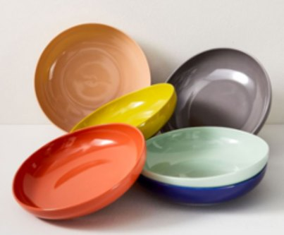 West Elm Organic Shaped Low Bowls