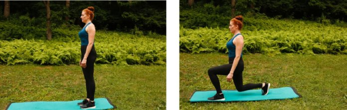 fitness forward lunges