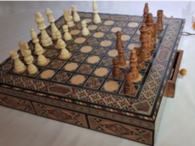Queen's Gambit inlaid chess board