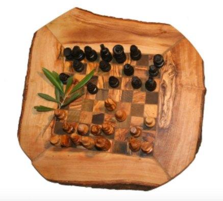 Queen's Gambit wood chess board