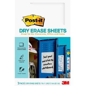post it dry erase sheets