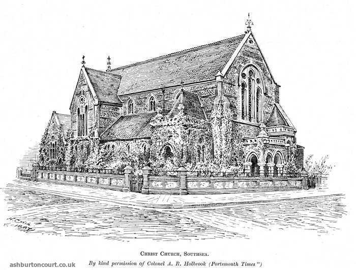 Sketch of Christ Church Southsea early 20th C