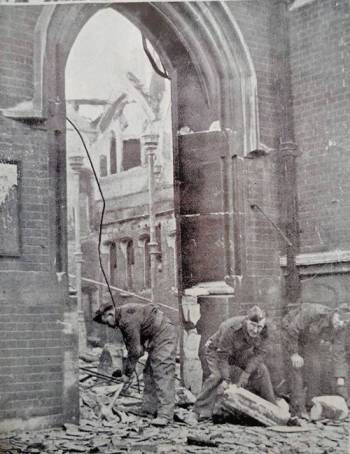 Elm Grove Church, Southsea after aerial bombing in 1941