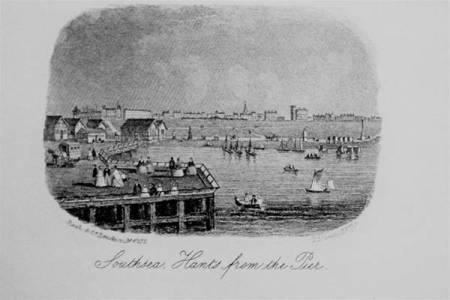 Southsea from The Pier 1870s
