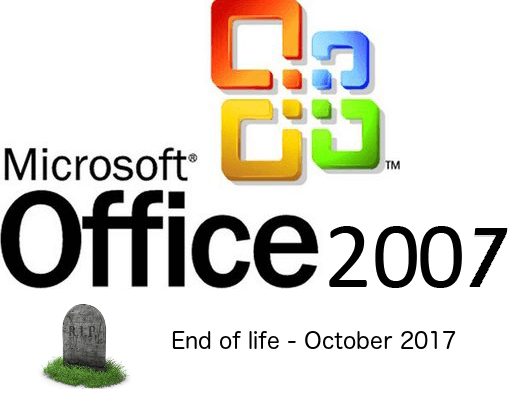 Office / Outlook 2007 and Office365 for email - End of Life notice