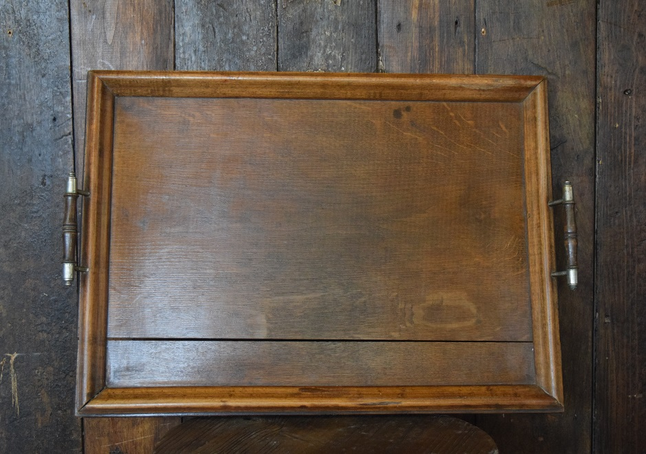 Antique Wooden Tray Handles
