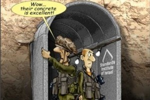 Un autre tunnel découvert dans la Bande de Gaza « Wow, leur béton est vraiment de bonne qualité » Caricature de Shlomo Cohen dans le Israel Hayom