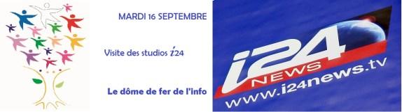 visite des studios i24News