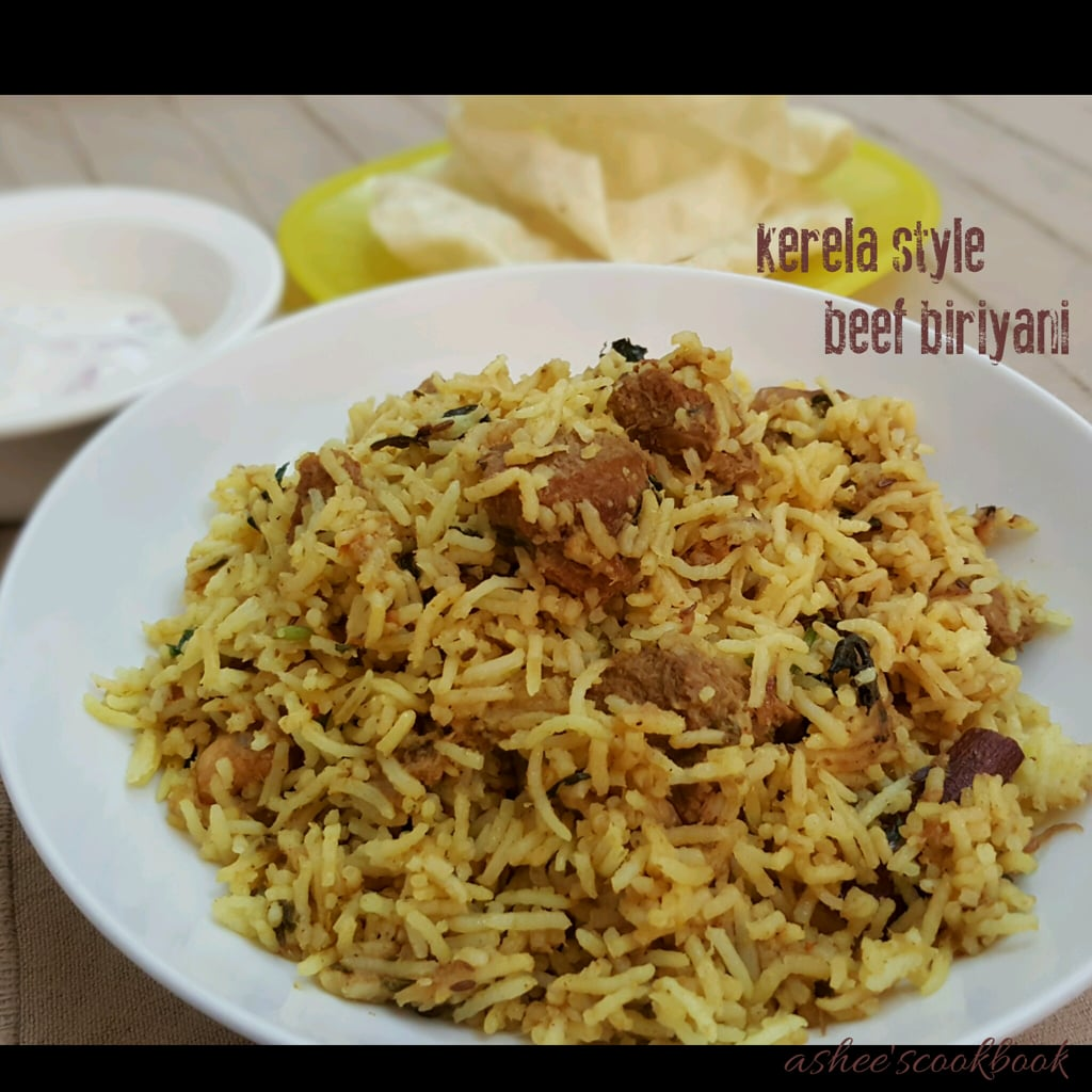 Kerala style beef biriyani