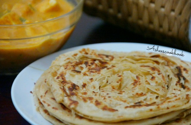 soft flaky wheat parotta