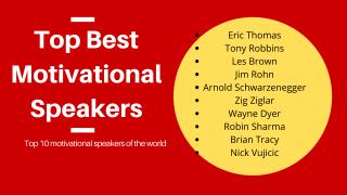 Motivational Speakers – Top Best Motivational Speakers