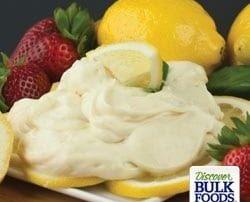 natural lemon cheesecake dip