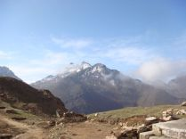 View of mountain from Louribenayak, Gosaikunda