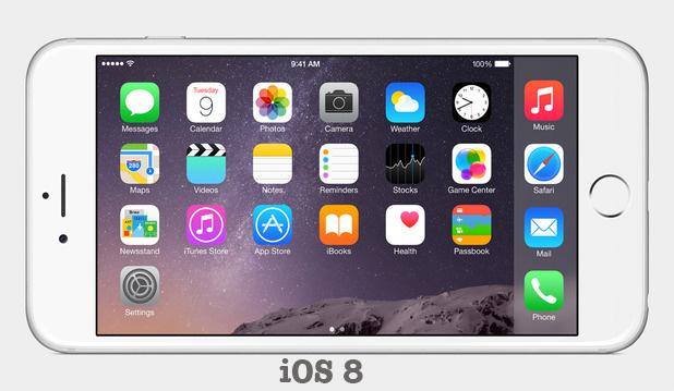 iOS 8 on iPhone 6 +
