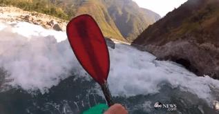 kayaking off everest