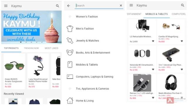 Kaymu app screenshot.