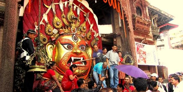 indra jatra Bhairab the most vibrant festival in kathmandu Nepal
