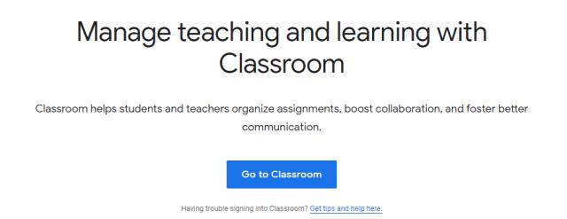 Google classroom, online learning platform