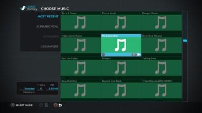 Choix de la musique
