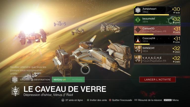 Actualité - Destiny : journal de bord, jour 12 à 15 - raid Vénus - équipe