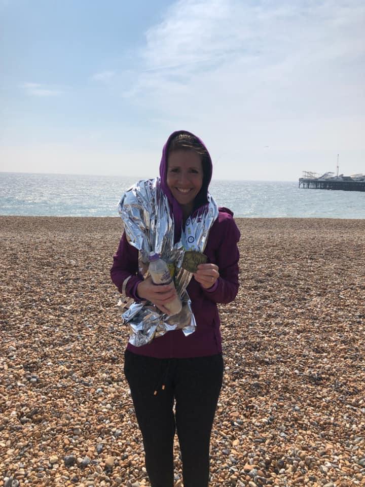 Sandi Mortimer Brighton Marathon
