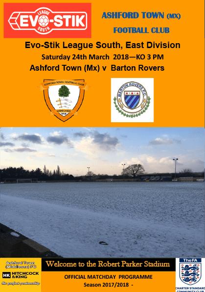Ashford Town (Middlesex) v Barton Rovers, 24/03/18