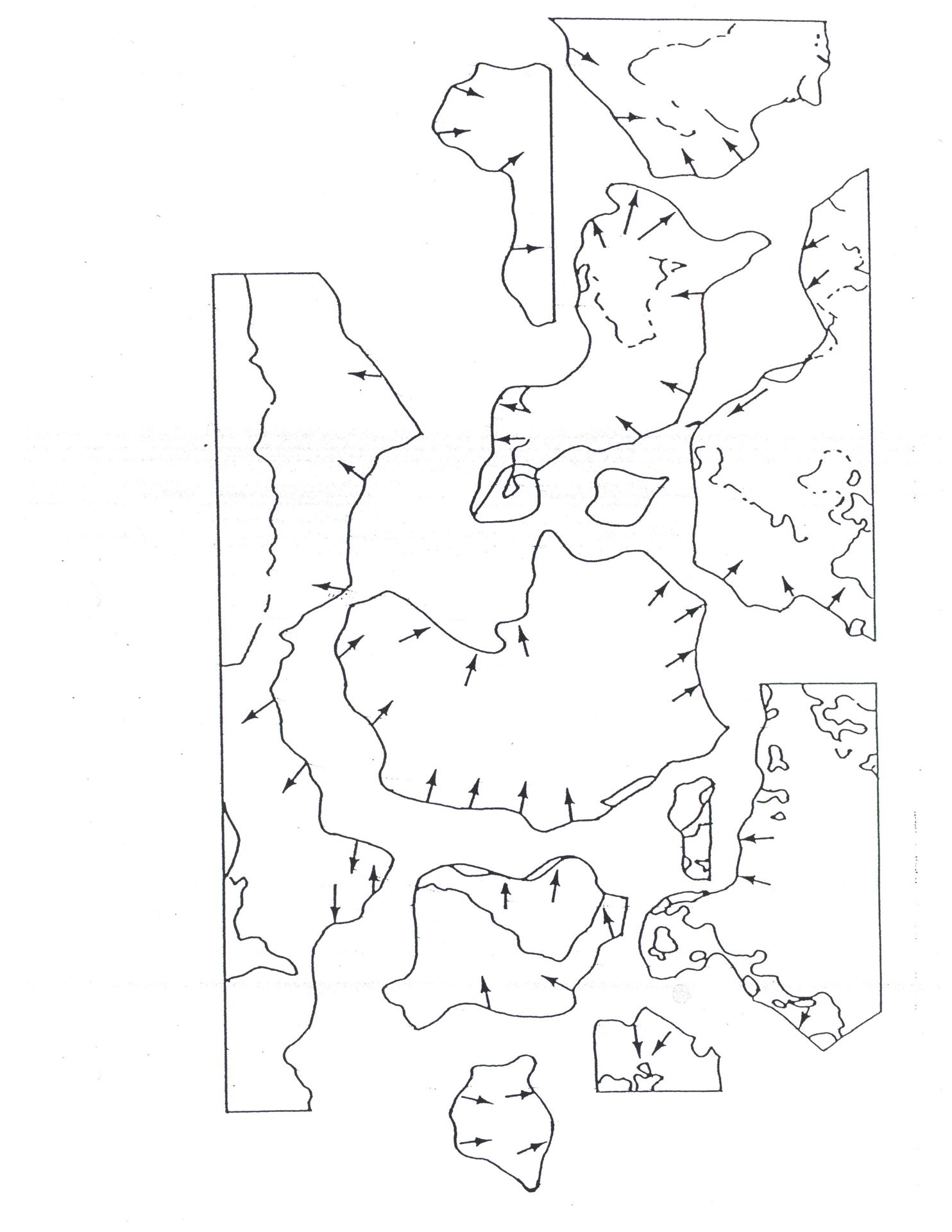 Printable Pangea Puzzle Worksheet Cut Out Sketch Coloring Page