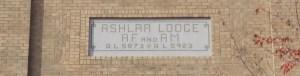 Ashlar Masonic Temple sign, 101 Commercial Street, Nanaimo