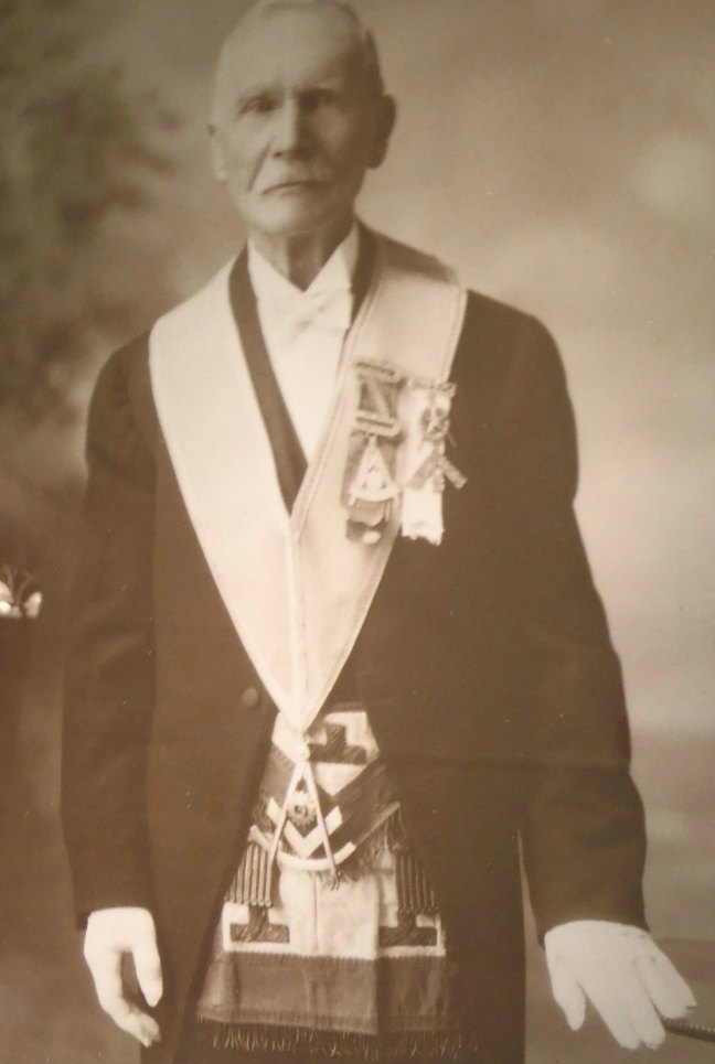 John Frame in Masonic regalia