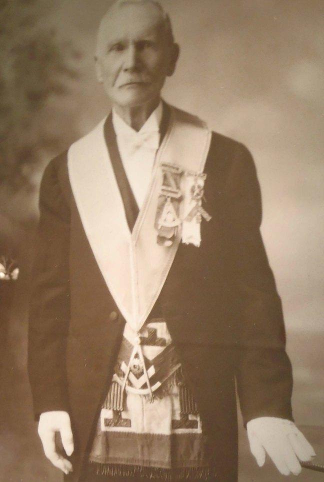 John Frame in Masonic regalia