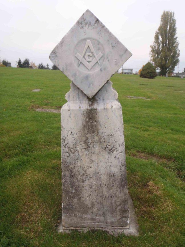 Joseph Foy grave, Bowen Road Cemetery, Nanaimo, B.C.