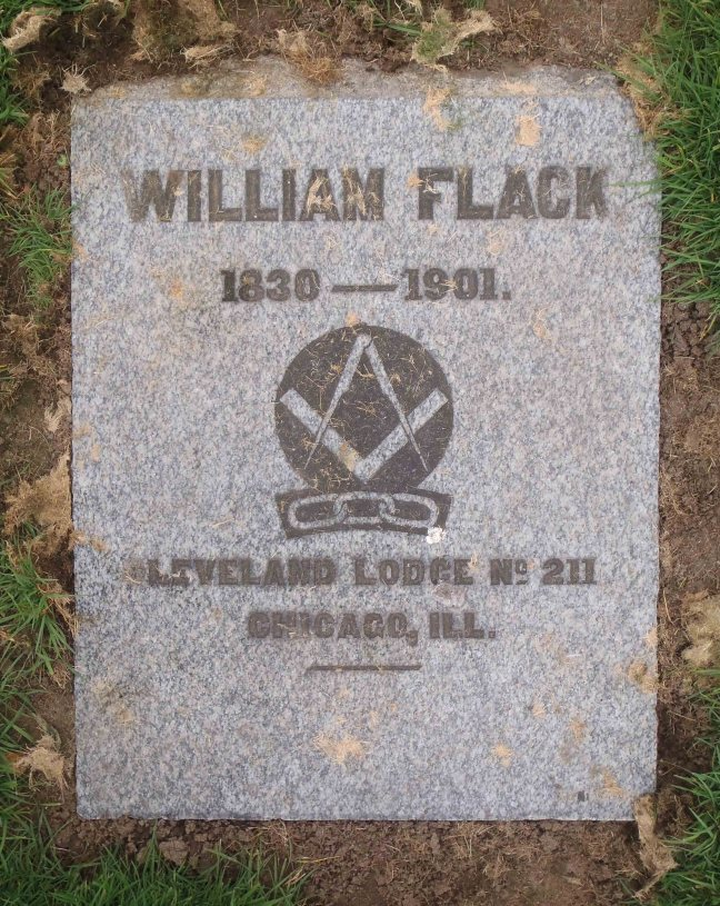 William Flack gravestone, Bowen Road Cemetery, Nanaimo, B.C.