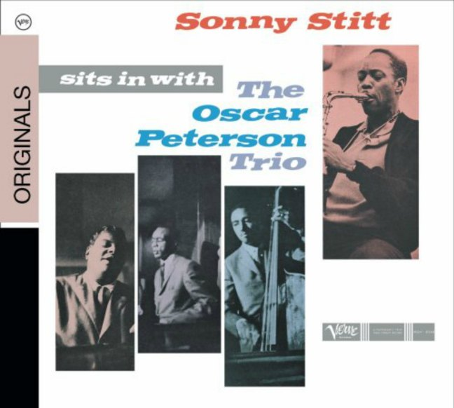 CD cover, Sonny Stitt Sits In With The Oscar Peterson Trio - Verve Records