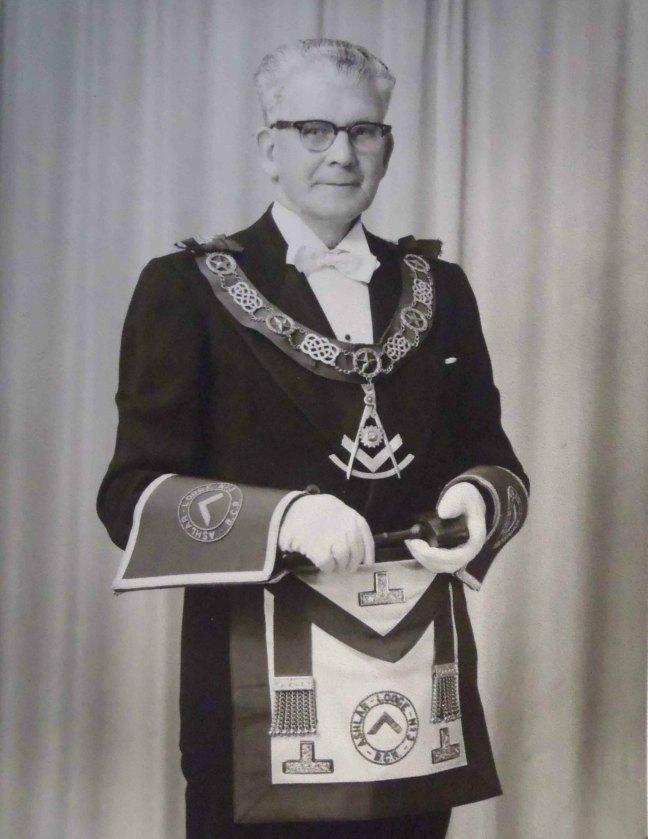 James Johnstone, Worshipful Master of Ashlar Lodge, No.3 in 1952