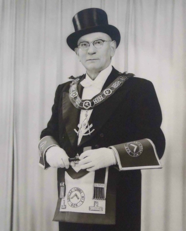John Gorosh Sr., Worshipful Master of Ashlar Lodge, No.3 in 1959