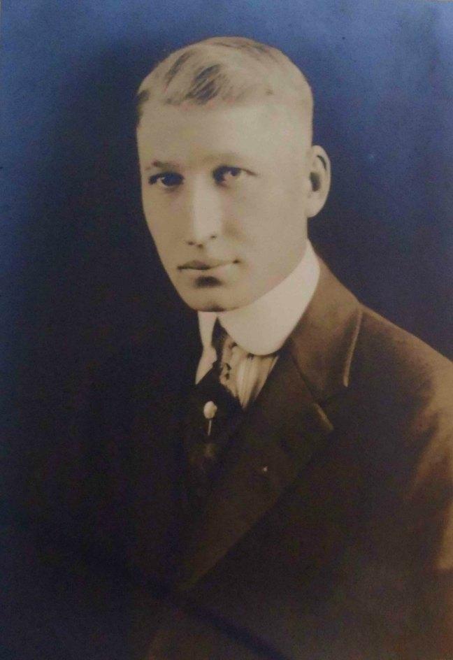 John H. Stevens, Worshipful Master of Ashlar Lodge, No.3 in 1938