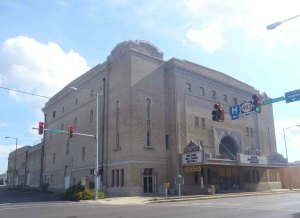 Temple Theater, Meridian, Mississippi. The theater is still owned by the Hamasa Shrine.
