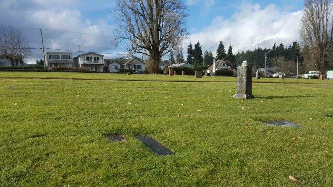Alexander Marshall grave, Bowen Road Cemetery, Nanaimo, B.C.
