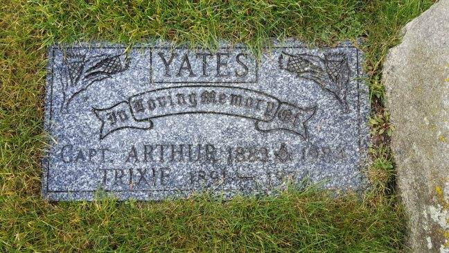 Captain Arthur Yates gravestone, Bowen Road Cemetery, Nanaimo, B.C.