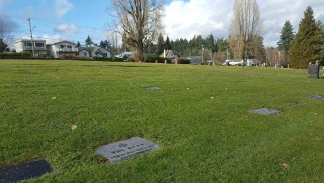 Ray Case grave, Bowen Road Cemetery, Nanaimo, B.C.